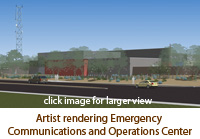 Artist Rendering Emergency Communications and Operations Center