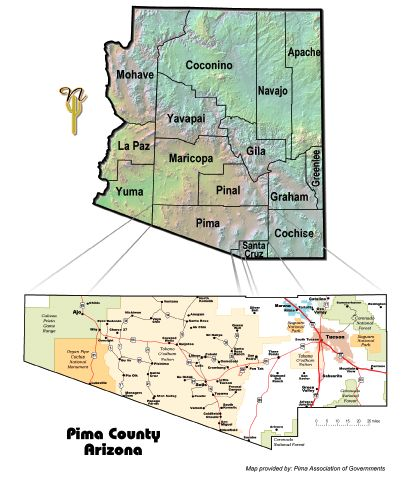 AZ/Pima County map